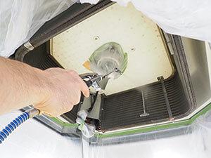 業務用エアコン 熱交換器洗浄