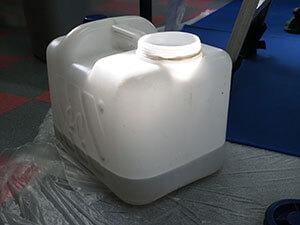 業務用エアコン 洗浄後の汚水