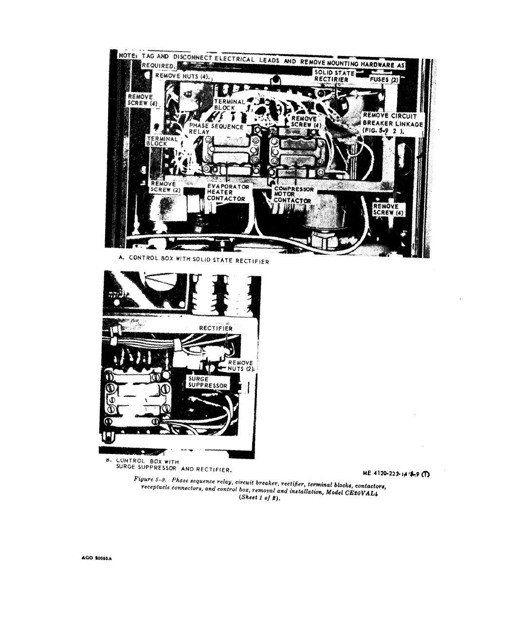 Figure 5 9 Phase Sequence Relay Circuit Breaker Rectifier Terminal Blocks Contractors