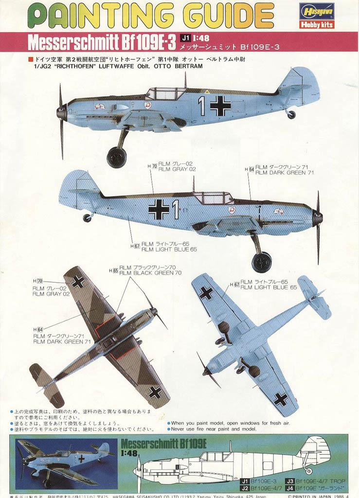 Me Bf 109 Paint Schemes