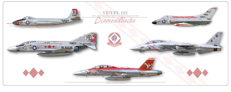 "VF/VFA-102 ""Diamondbacks"" Lineage"