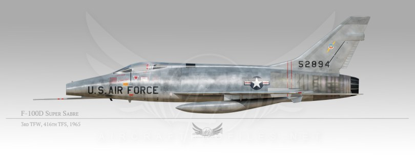 F-100D Super Sabre, 3rd Tactical Fighter Wing, 416th Tactical fighter Squadron, 1965
