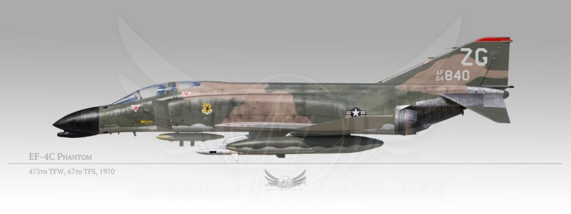 EF-4C Phantom, 475th Tacical Fighter Wing, 67th Tactical Fighter Squadron, 1970