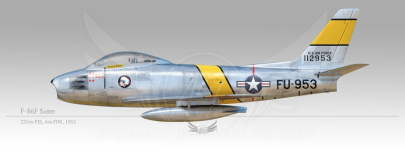 F-86F Sabre, 4th Fighter Intercept Wing, 335th Fighter Intercept Squadron, 1952