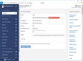 Docker Swarm Portainer Service Details 2