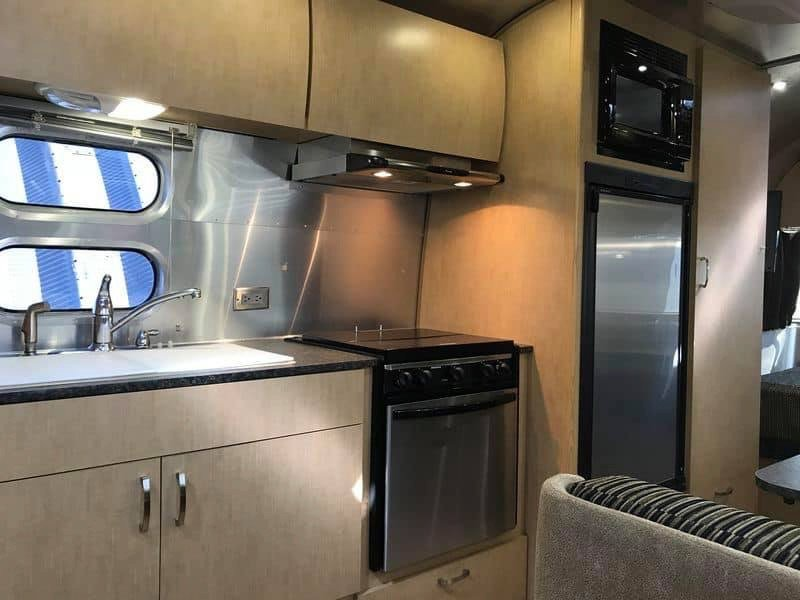Kitchen area of the 2009 Airstream Flying Cloud 23FB