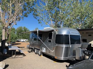 Airstream camper at McGee Creek RV Park