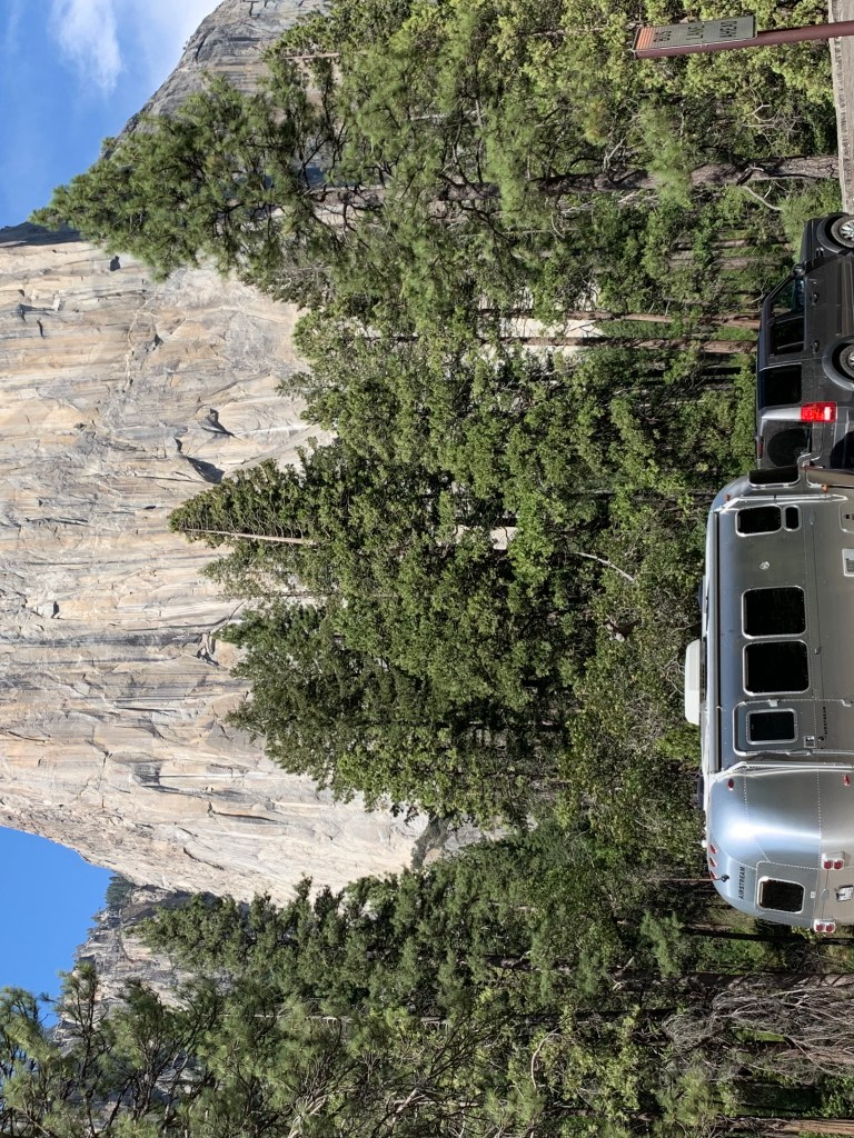 Airstream at Yosemite National Park at El Capitan