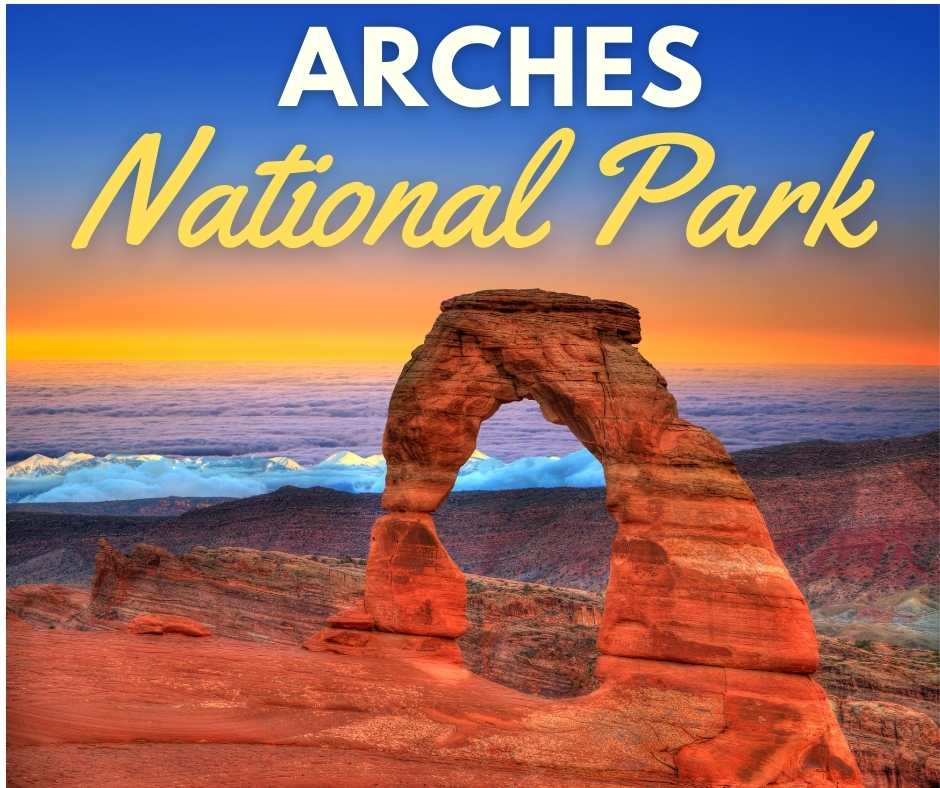 sunrise over the Arches National Park