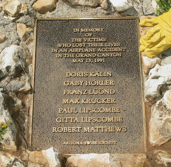 19910513.. KGCN Crash plaque, AZ-Swiss-Society