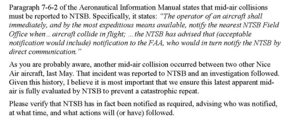 19990512.. clip re NTSB reporting, from DRAFT memo to KRHV Sup.Aranda, re 5-9-1999 midair