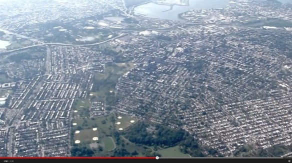 20120913.. 'Flight Over Flushing', (KLGA Whitestone Climb at approx. 5PM), screencap at time1.50