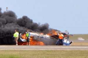 20140504.. KSUU Air Show crash, fire, waiting for ARFF