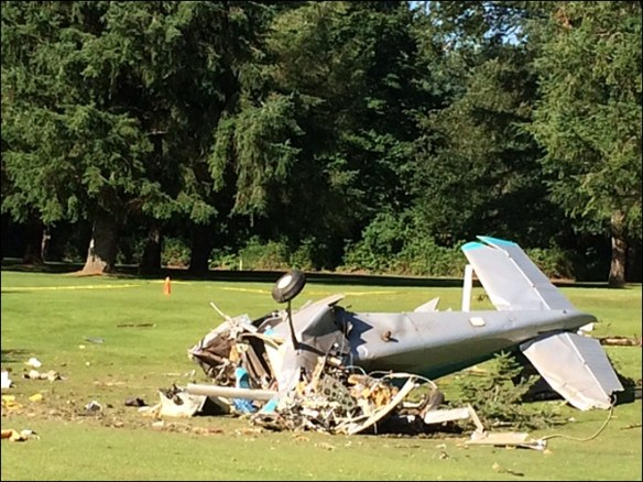20140708.. Fall City, WA C182 golf course crash