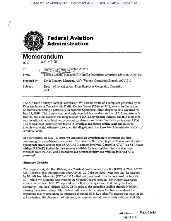 20140924.. Exhibit - Bebble's 8-2-2011 letter, same as FAA-01613 thru FAA-01617 (cv-0992, CR-41.1)(5p)_1