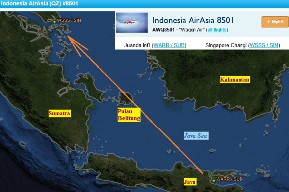 20141228.. AWQ8501, FlightAware map view (approx. direct route, labels)