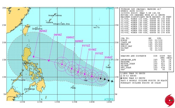 20150331.. Typhoon Maysak forecast map by JTWC