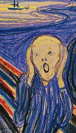 20150531cpy.. portion of Munch's 'The Scream'