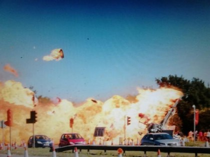 20150822.. Fireball and A27 cars at Shoreham, UK airshow crash