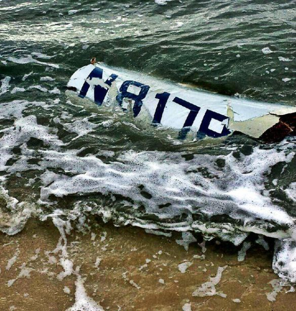 20151027.. KGPT crash, fuselage section in surf
