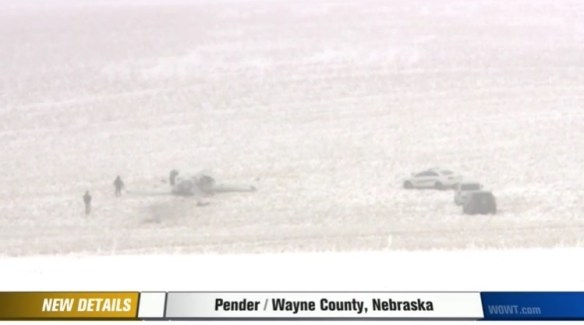 20160103scp.. C172 snowy crash scene near Pender, NE