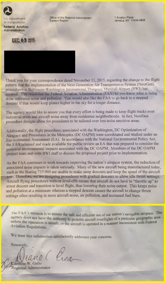 KBWI.20151202.. FAA letter re NextGen noise pollution-1