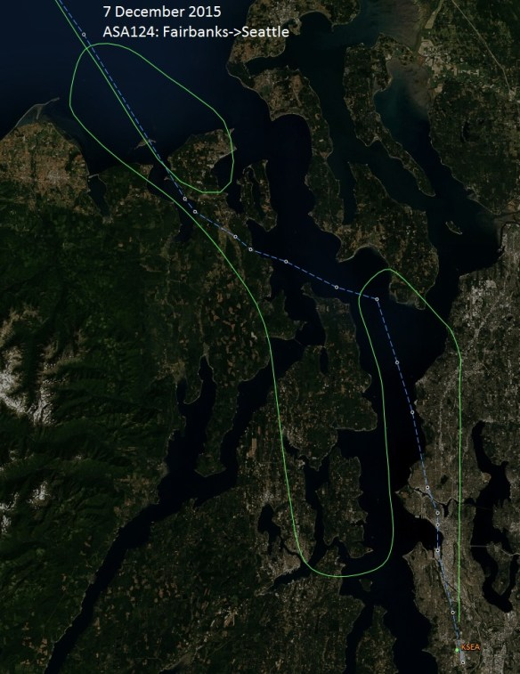 ATC issued multiple delays, including a huge loop east of Dungeness Spit, then a turn to Alki Point only to be turned downwind and extended on the downwind all the way back to Whidbey Island.