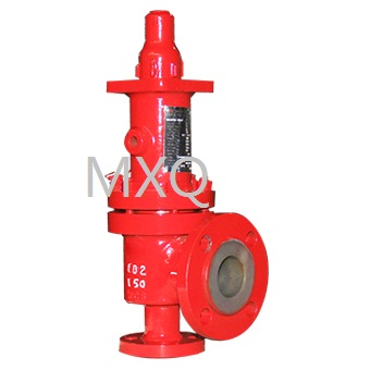 Fluorine lining safety valve