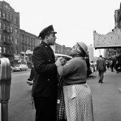 Armenian woman fighting on East 86th Street, September, 1956, New York, NY