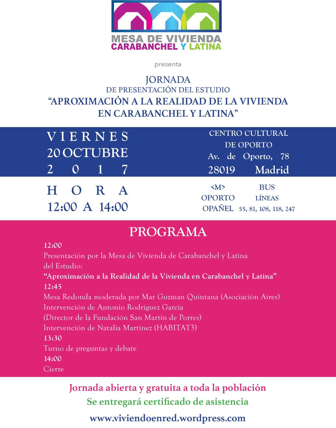 Jornada de presentación del estudio de vivienda Carabanchel y Latina