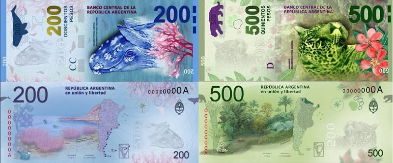 novas notas de peso argentino