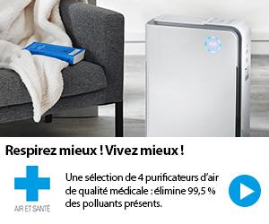 sélection des purificateurs d'air d'Air Et Santé