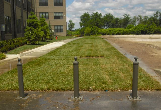 grass paving, grass pave, porous flexible paving, invisible structures