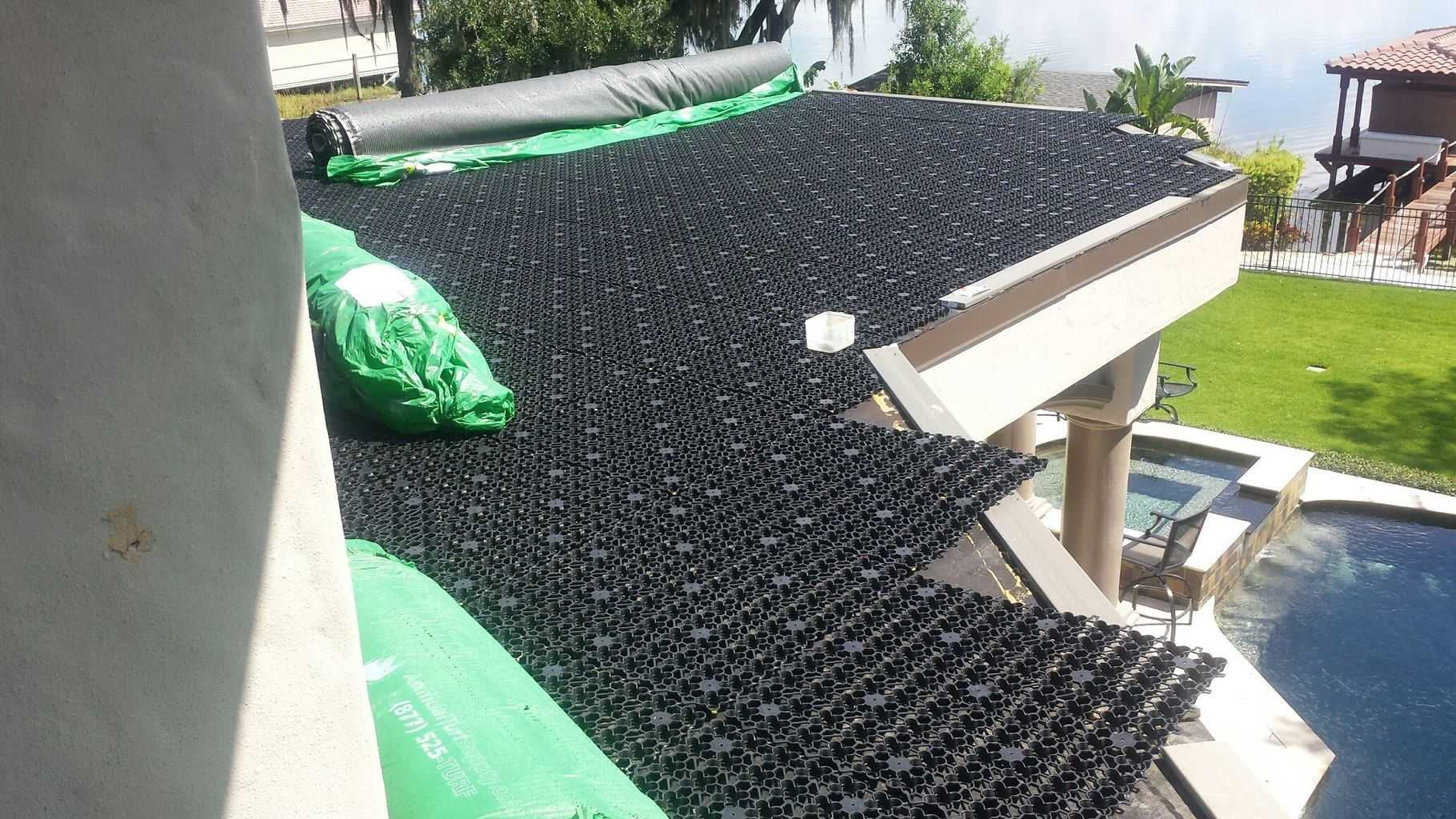 Airdrain Synthetic Turf Green Roof Deck With A View In
