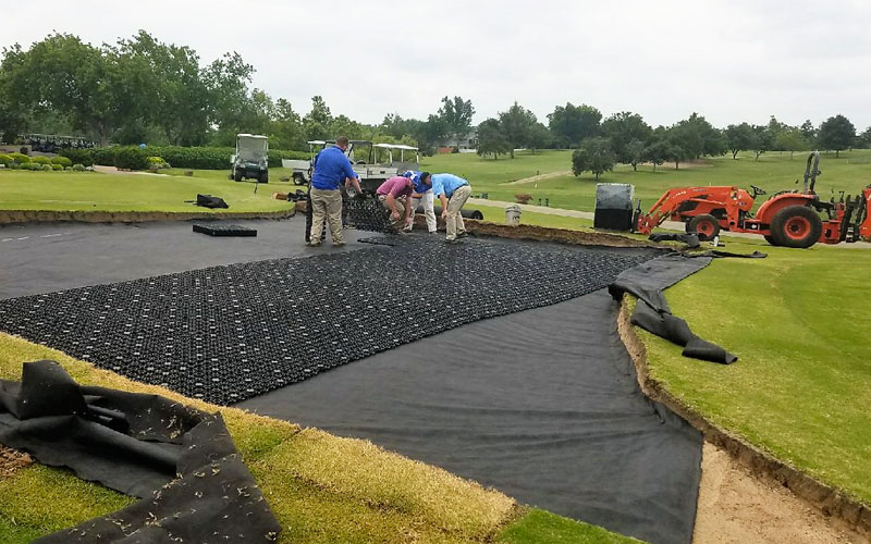 putting green drainage, airdrain drainage, golf drainage, usga,