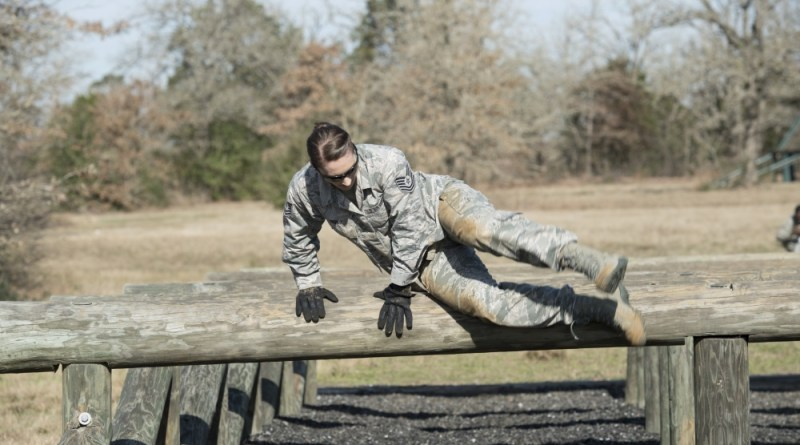 Air Force Fitness Obstacle Course Hurdle