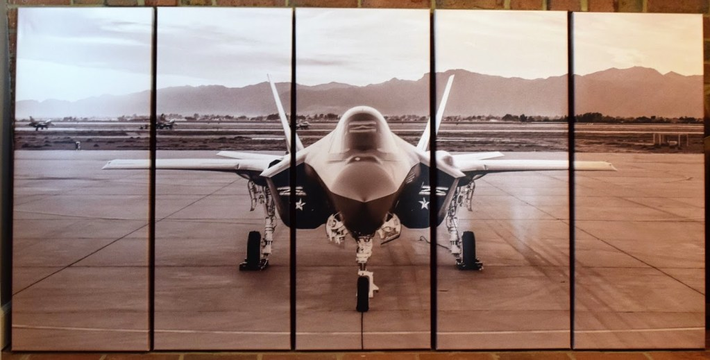 F-35 Five Panel Canvas Print Image