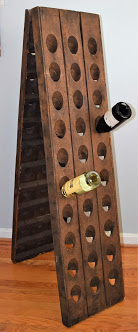 French Wine Bottle Riddling Rack Image