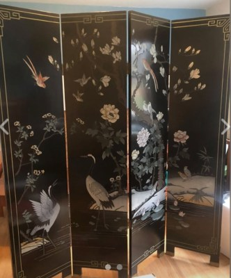 4-Panel Asian Screen/Room Divider Image
