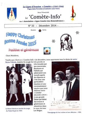 Comet Line Newsletter December 2014 full 8 pages0001