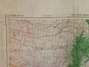 Mongolia, AAF Cloth Map, No. C-36, Central East Asia