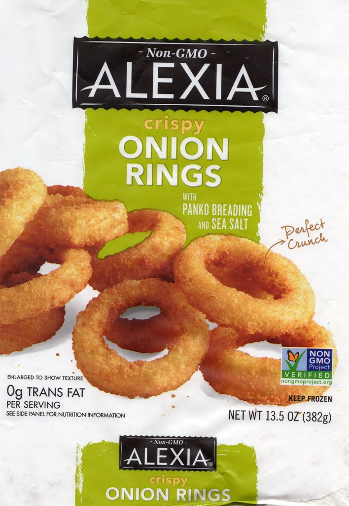 Alexia Crispy Onion Rings package front