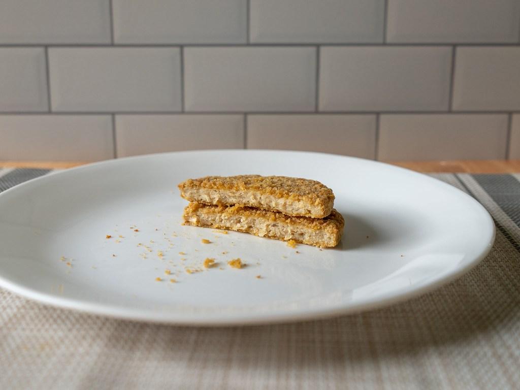 The Original Boca Chik'N Veggie Patties - air fried cross section