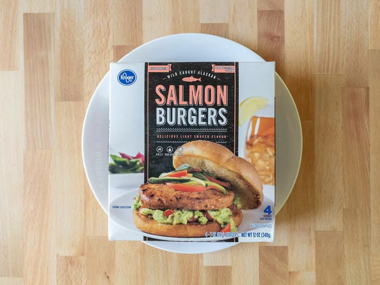 How to cook Kroger Salmon Burgers in an air fryer