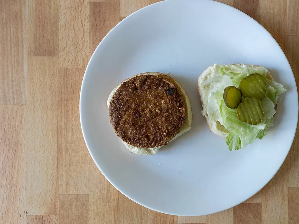 Air fried Sprouts Original Griller Veggie Burgers