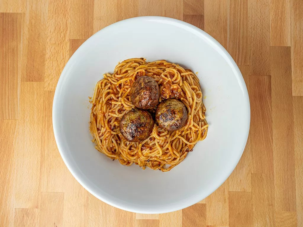 Air fried Simple Truth Italian Seasoned Chicken Meatballs