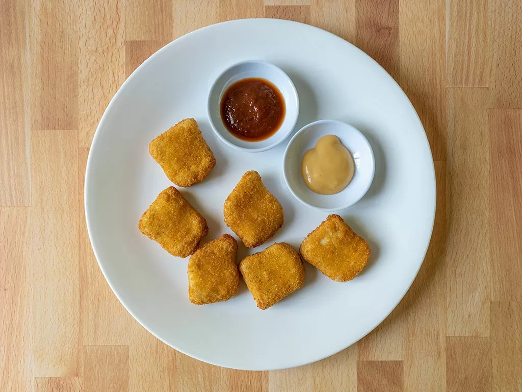 Air fried Foster Farms Breast Nuggets