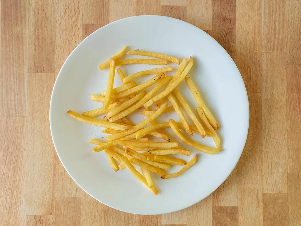 Air fried Kroger Shoestring Fries