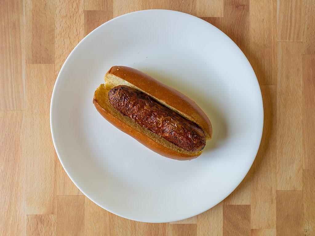 Air fried Sweet Earth Chorizo Style Sausage