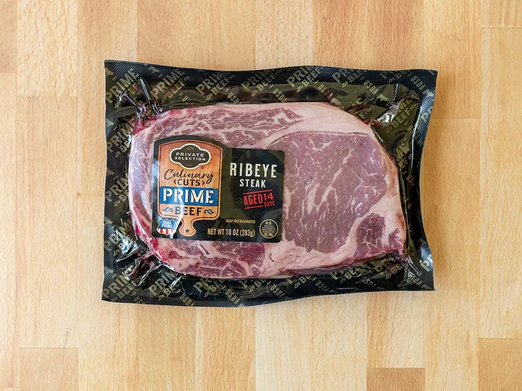 Kroger Private Selection ribeye steak